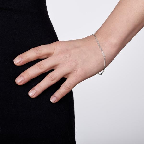 Amberta シルバー925 ひし形 喜平チェーン ブレスレット 幅2mm 長さ 18 19 20 cm (19cm)|qalib|04