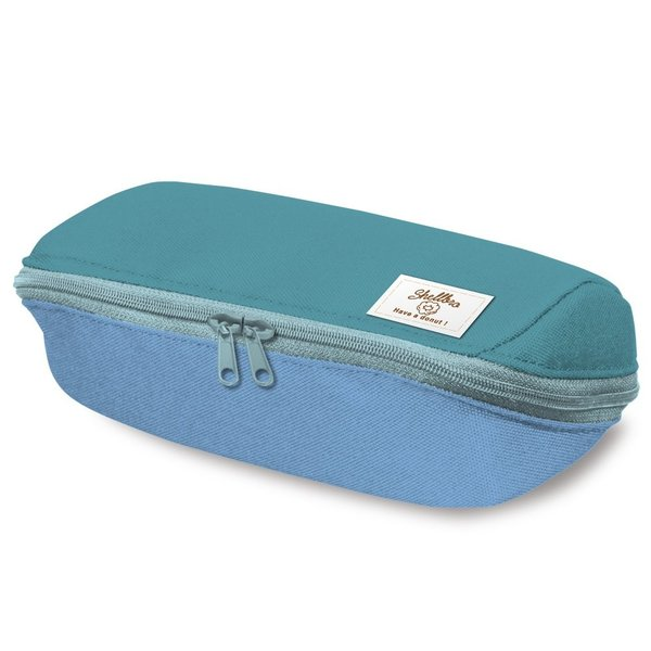 コクヨ ペンケース 筆箱 大容量 シェルブロ 限定 ミスタードーナツ柄 ミント×ブルー F-VBF190-L3|qalib|02