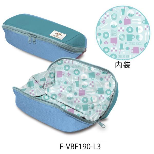 コクヨ ペンケース 筆箱 大容量 シェルブロ 限定 ミスタードーナツ柄 ミント×ブルー F-VBF190-L3|qalib|05