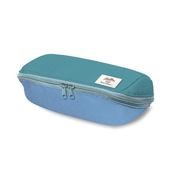 コクヨ ペンケース 筆箱 大容量 シェルブロ 限定 ミスタードーナツ柄 ミント×ブルー F-VBF190-L3|qalib|07