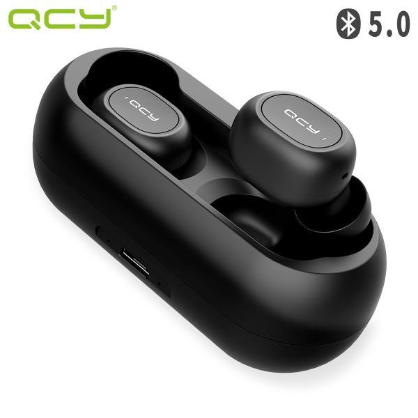 QCY T1 ワイヤレスイヤホン Bluetooth 5.0 完全ワイヤレス 右分離型 ブルートゥース イヤホン マイク付き AAC対応 ノイズキャンセリング 防水 QCY-T1BK qcy
