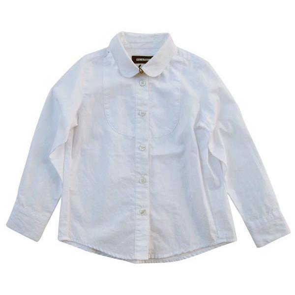 bcf92474c8864 ジェネレーターガールズドレスシャツ(ホワイト)(110cm〜130cm) generator子供服 入学 ...