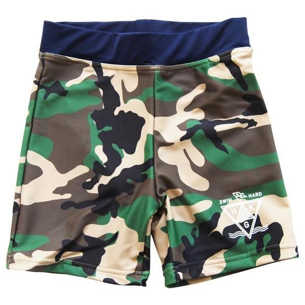 50%OFF セール highking  ハイキング 子供服  liquid shorts(水着)スイムショーツ (90cm〜120cm)カモフラージュ