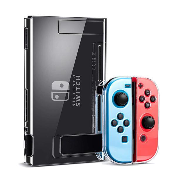 NintendoSwitchカバースイッチカバー分離式透明なケース超薄型ドック対応全面保護ケース耐久性PC素材キズ防止衝撃吸収