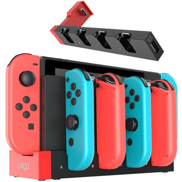 NintendoSwitch充電器5-in-1ジョイコン4台同時充電スイッチ充電器本体LED急速充電器過電流保護
