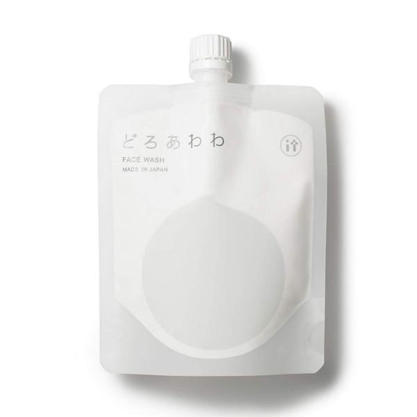 どろ豆乳石鹸 どろあわわ 110g もっちり泡 フェイスウォッシュ 健康コーポレーション 洗顔ネット付き 送料無料 ゆうパケット|qolca