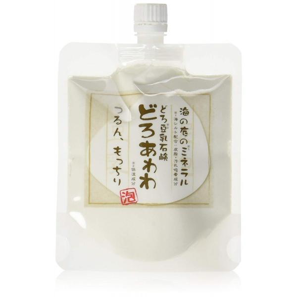 どろ豆乳石鹸 どろあわわ 110g もっちり泡 フェイスウォッシュ 健康コーポレーション 洗顔ネット付き 送料無料|qolca