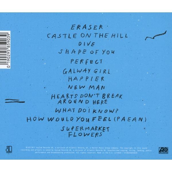 エドシーラン CD アルバム | ED SHEERAN DIVIDE | エドシーラン ディバイド 輸入盤 CD 送料無料|qoo-online4-store|02