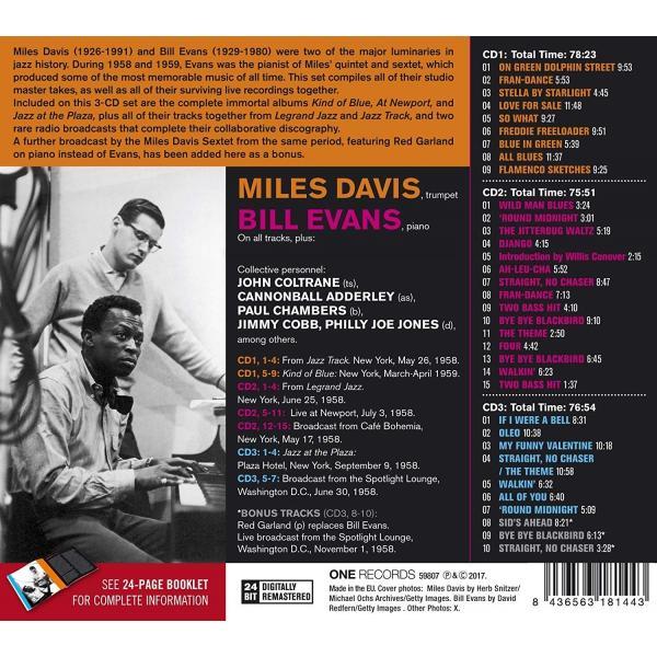 マイルスデイビス ビルエバンス CD アルバム | MILES DAVIS & BILL EVANS COMPLETE STUDIO & LIVE MASTERS 3枚組 輸入盤 CD 送料無料|qoo-online4-store|02