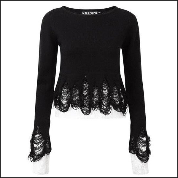 1db78adec2f ... 予約】KILLSTAR キルスター Keiko Kitty Fuzzy Crop Sweater [B] セーター ニット ...