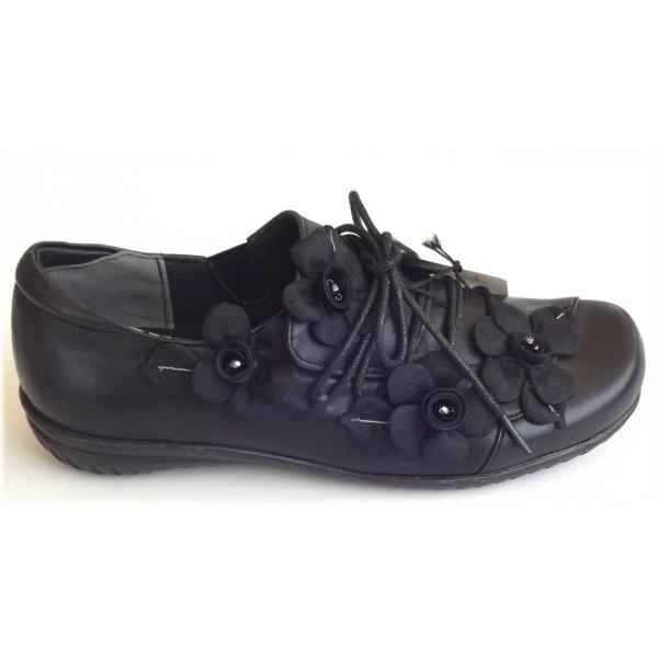 ベルパーチ 靴 黒レザースリッポン 23.0センチ ワイズEEE 日本製 ブラック 80359