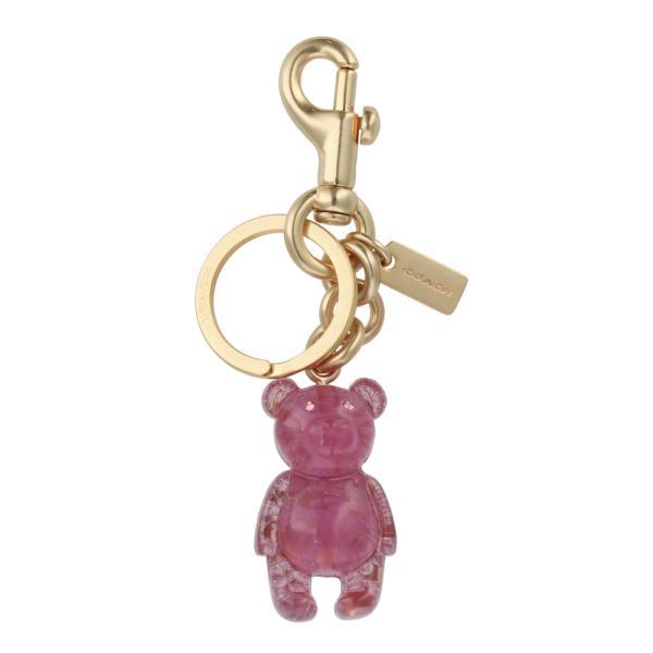 [コーチ] キーホルダー ベアー チャーム キーフォブ COACH Signature Bear Charm Key Fob 5105 IM/Pink