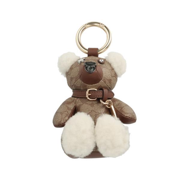 [コーチ] キーホルダー ベアー チャーム キーフォブ COACH Signature Teddy Bear Charm Key Fob F77676 GDKHA
