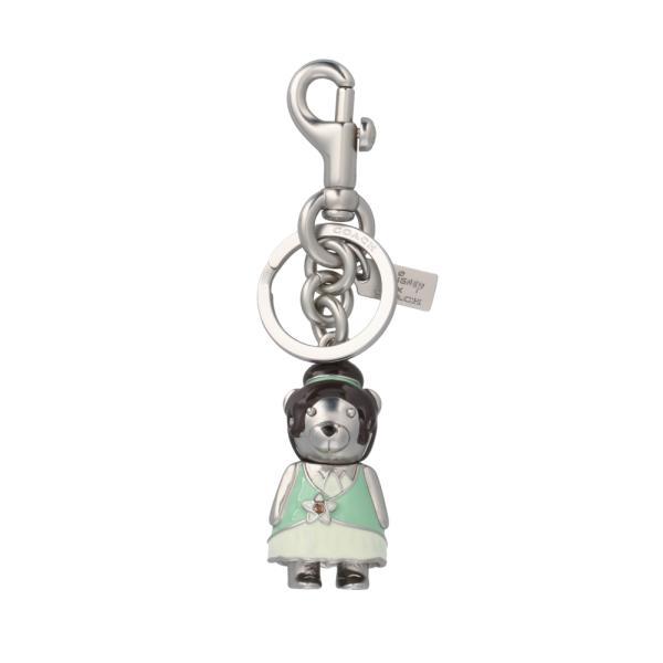 [コーチ] キーホルダー ベアー チャーム キーフォブ COACH Disney Princess Tiana Bear Bag Charm Key Fob C0268 SV/A5