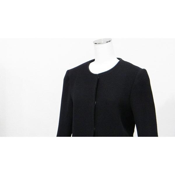 レディース コート ノーカラー 黒 ウール フォーマル ドレス 7部丈 膝下丈 ブラック XS~Sサイズ|queenandking|06