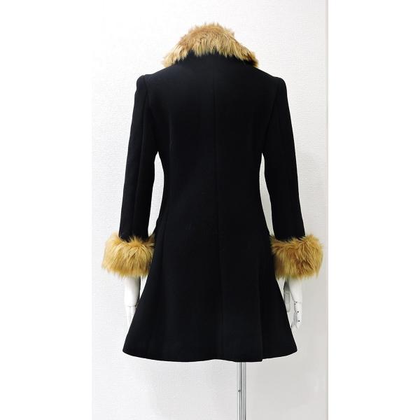 レディース コート 黒 フォーマル ブラック ハーフ 丈 ウール コート レディース 7部丈 膝丈 膝下丈 上品 フォーマル アウター XSサイズ ~ Sサイズ|queenandking|05