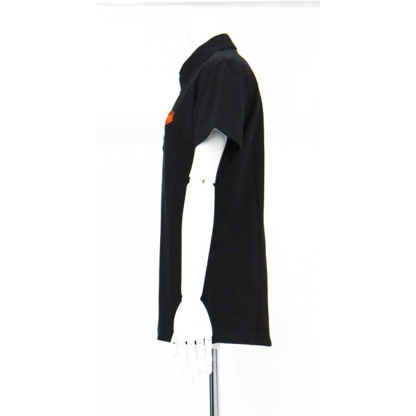 ポロシャツ 無地 ボタンダウンカラー 半袖 4つ釦 鹿の子 黒 Lサイズ queenandking 03