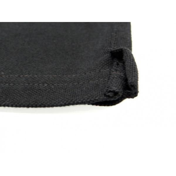 ポロシャツ 無地 ボタンダウンカラー 半袖 4つ釦 鹿の子 黒 Lサイズ queenandking 06
