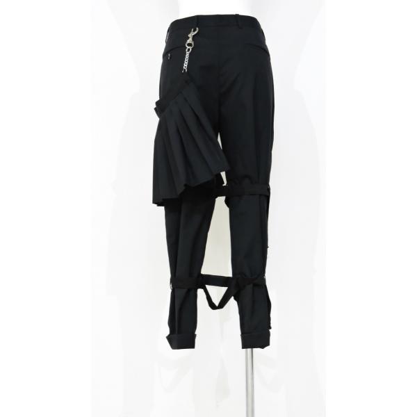 メンズ パンツ スカート 黒 ファッション メンズスカート ブラック スカート付き S サイズ 44|queenandking|04