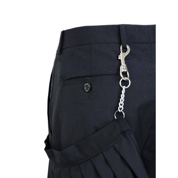 メンズ パンツ スカート 黒 ファッション メンズスカート ブラック スカート付き S サイズ 44|queenandking|06