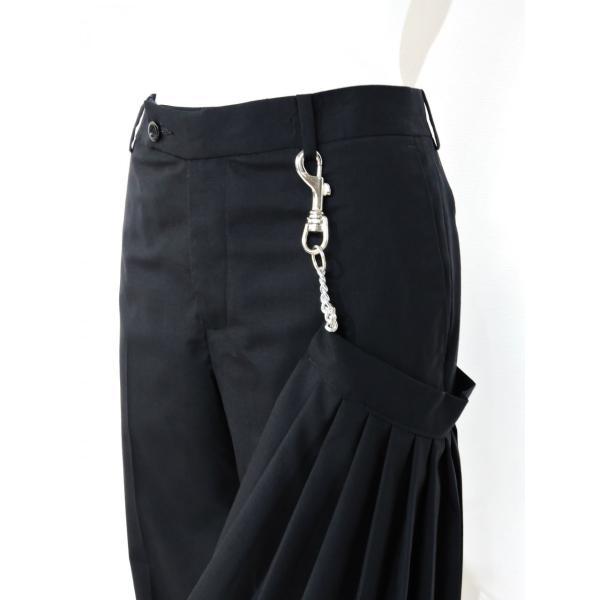メンズ パンツ スカート 黒 ファッション メンズスカート ブラック スカート付き S サイズ 44|queenandking|07