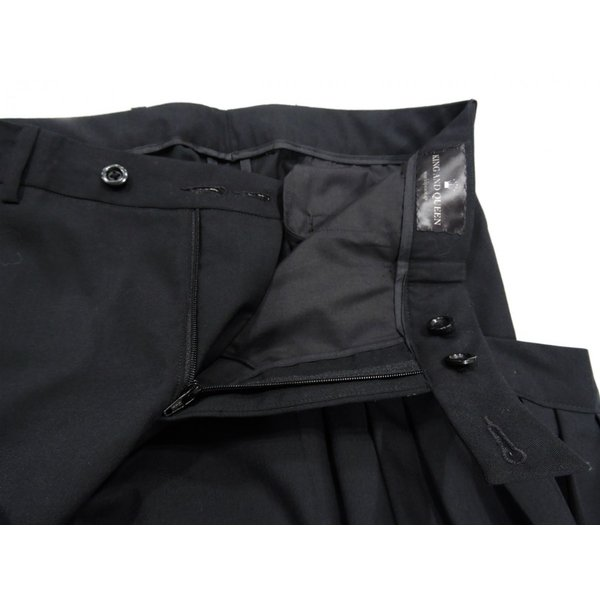 メンズ パンツ スカート 黒 ファッション メンズスカート ブラック スカート付き S サイズ 44|queenandking|09