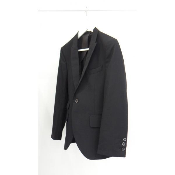 ジャケット メンズ 黒 ブラック シングル 42 XS サイズ センターベント|queenandking|02