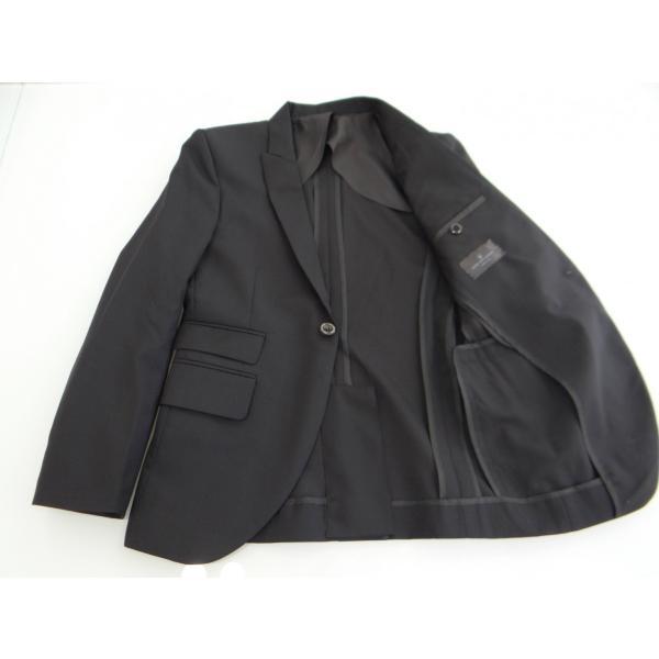 ジャケット メンズ 黒 ブラック シングル 42 XS サイズ センターベント|queenandking|04