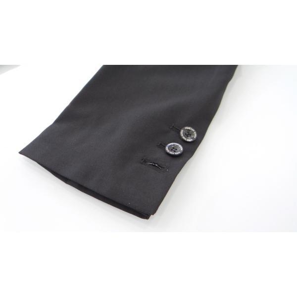 ジャケット メンズ 黒 ブラック シングル 42 XS サイズ センターベント|queenandking|06