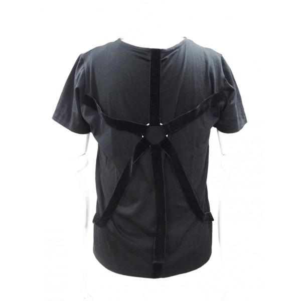 パラシュート Tシャツ メンズ 丸首 半袖 T シャツ 黒 トップス サイズ 44 S|queenandking
