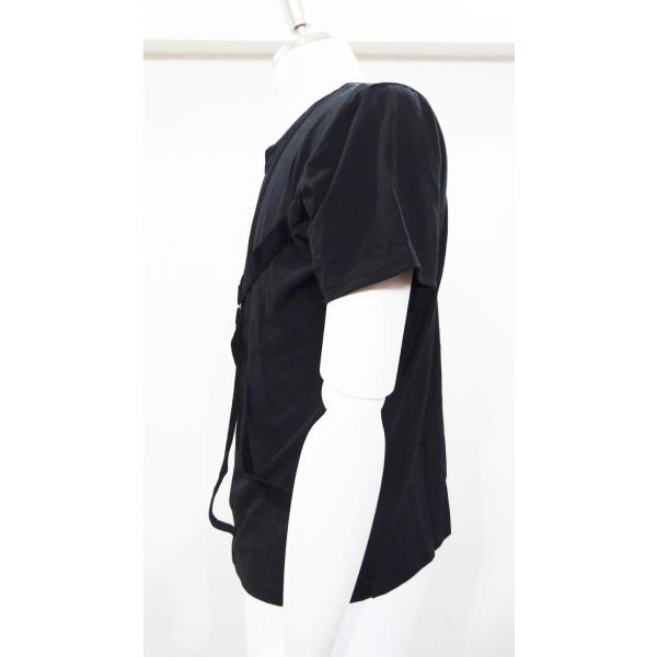 パラシュート Tシャツ メンズ 丸首 半袖 T シャツ 黒 トップス サイズ 44 S|queenandking|02