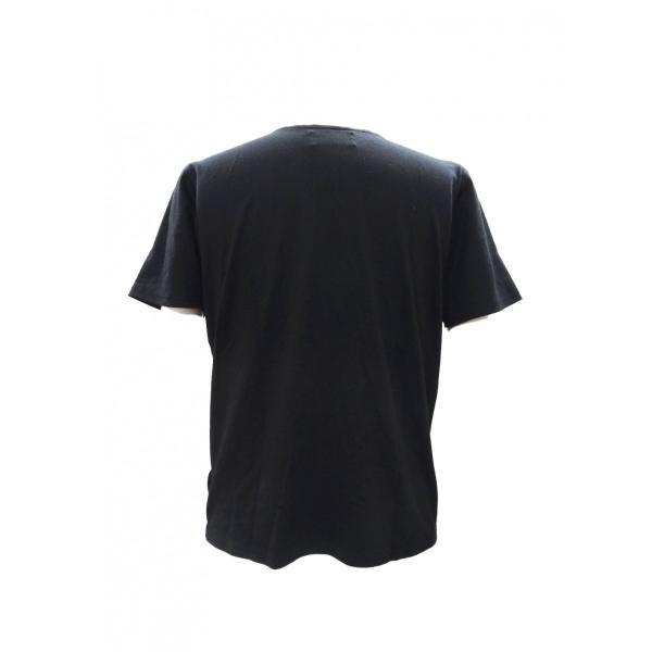 パラシュート Tシャツ メンズ 丸首 半袖 T シャツ 黒 トップス サイズ 44 S|queenandking|03
