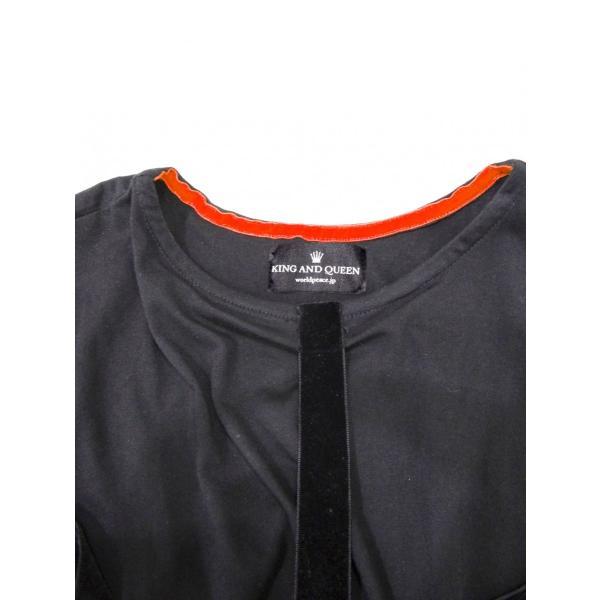 パラシュート Tシャツ メンズ 丸首 半袖 T シャツ 黒 トップス サイズ 44 S|queenandking|04