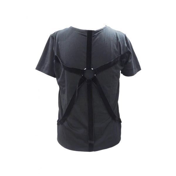 パラシュート Tシャツ メンズ 丸首 半袖 T シャツ 黒 トップス サイズ 44 S|queenandking|05