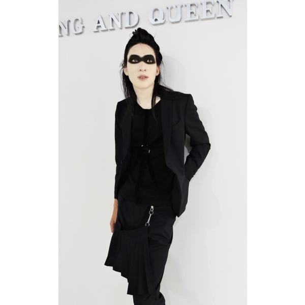 パラシュート Tシャツ メンズ 丸首 半袖 T シャツ 黒 トップス サイズ 44 S|queenandking|06