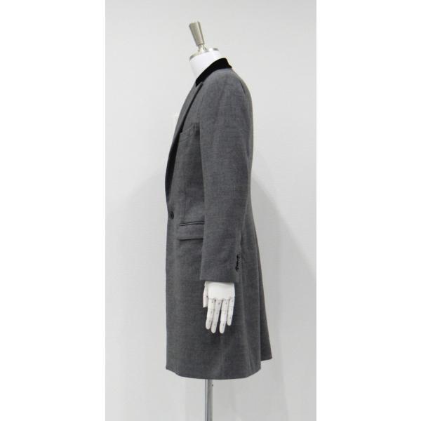 グレー メンズ チェスターコート コート 長袖 灰色 メンズコート チェスター コート Sサイズ 44 queenandking 03