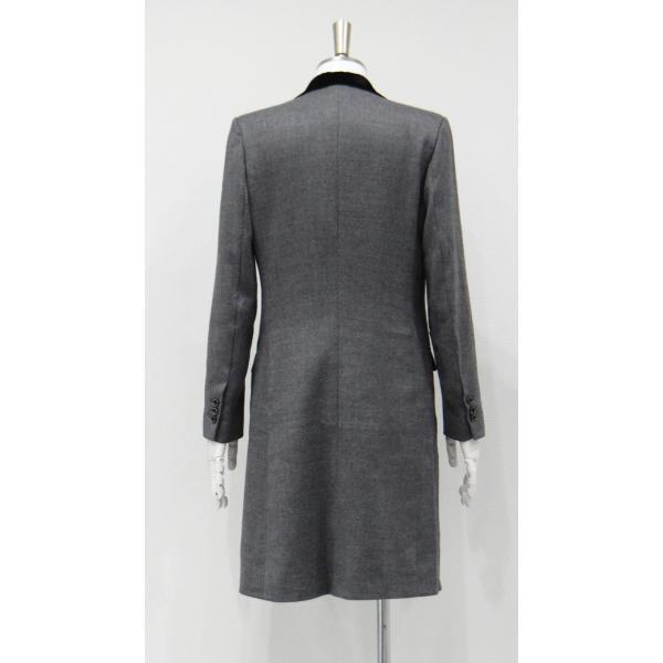 グレー メンズ チェスターコート コート 長袖 灰色 メンズコート チェスター コート Sサイズ 44 queenandking 04