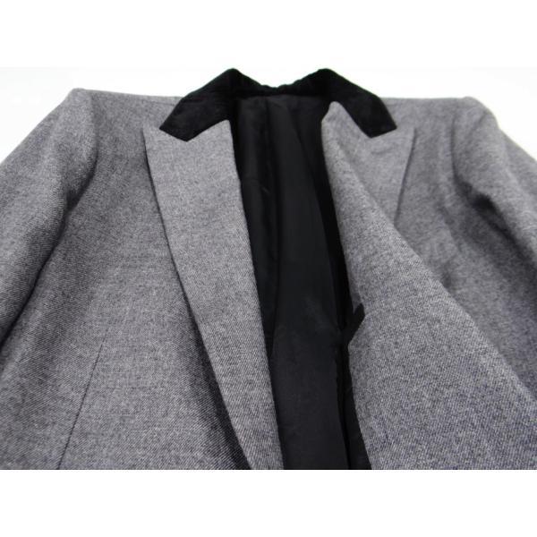 グレー メンズ チェスターコート コート 長袖 灰色 メンズコート チェスター コート Sサイズ 44 queenandking 06