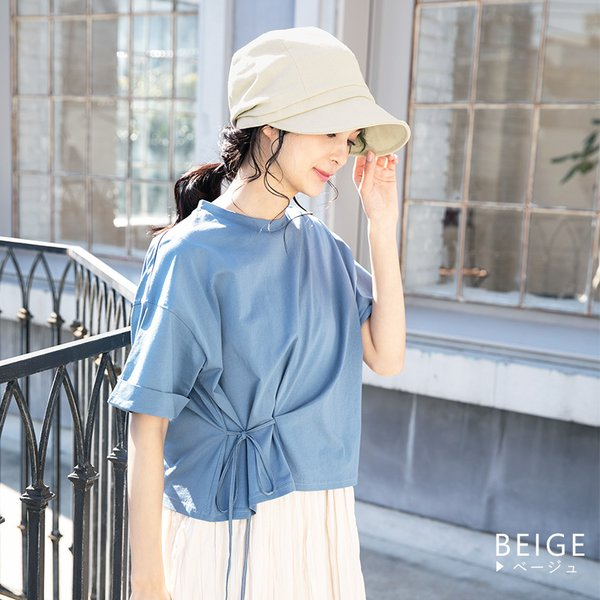 自分好みにサイズ調整 小顔効果抜群 UV 帽子 レディース 夏 大きいサイズ  紐調整 キャスケット ひも つば広 日よけ 折りたたみ  自転車 飛ばない UVカット|queenhead|12