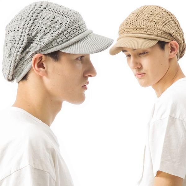 1000円 セール UV 紫外線対策 帽子 レディース 大きいサイズ 商品名 つば付きあみあみニットキャスケット 日よけ|queenhead|04