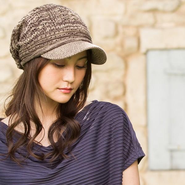 1000円 セール UV 紫外線対策 帽子 レディース 大きいサイズ 商品名 つば付きあみあみニットキャスケット 日よけ|queenhead|08