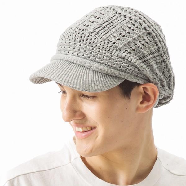 1000円 セール UV 紫外線対策 帽子 レディース 大きいサイズ 商品名 つば付きあみあみニットキャスケット 日よけ|queenhead|09