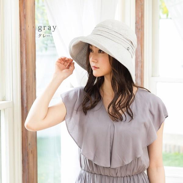 帽子 レディース 夏 夏用 大きいサイズ UV UVカット つば広 エレガントUVハット 日よけ 折りたたみ 女優帽 自転車 飛ばない 56-63cm|queenhead|17