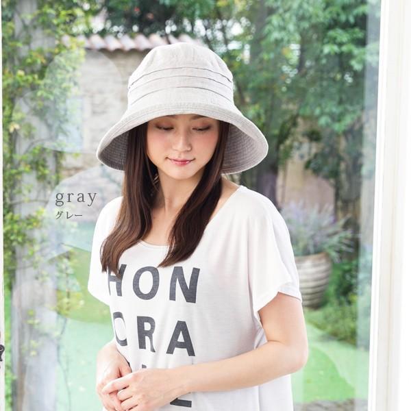 帽子 レディース 夏 夏用 大きいサイズ UV UVカット つば広 エレガントUVハット 日よけ 折りたたみ 女優帽 自転車 飛ばない 56-63cm|queenhead|18