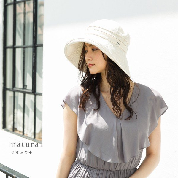 帽子 レディース 夏 夏用 大きいサイズ UV UVカット つば広 エレガントUVハット 日よけ 折りたたみ 女優帽 自転車 飛ばない 56-63cm|queenhead|19