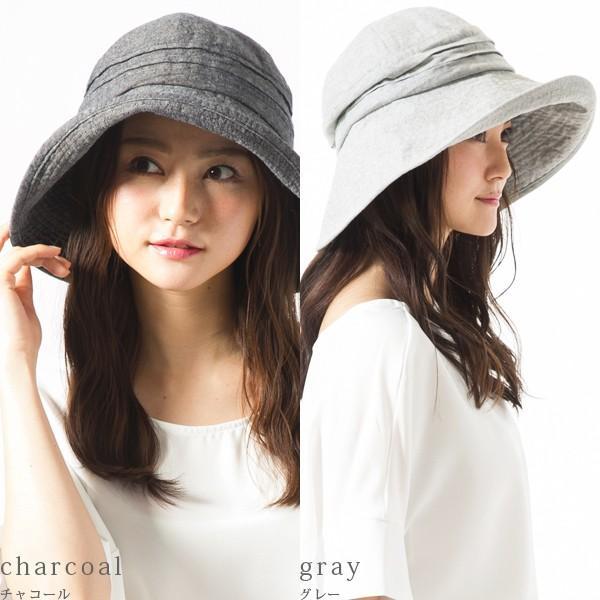 帽子 レディース 夏 夏用 大きいサイズ UV UVカット つば広 エレガントUVハット 日よけ 折りたたみ 女優帽 自転車 飛ばない 56-63cm|queenhead|20