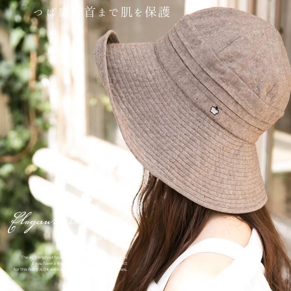 帽子 レディース 夏 夏用 大きいサイズ UV UVカット つば広 エレガントUVハット 日よけ 折りたたみ 女優帽 自転車 飛ばない 56-63cm|queenhead|04