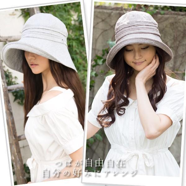 帽子 レディース 夏 夏用 大きいサイズ UV UVカット つば広 エレガントUVハット 日よけ 折りたたみ 女優帽 自転車 飛ばない 56-63cm|queenhead|07