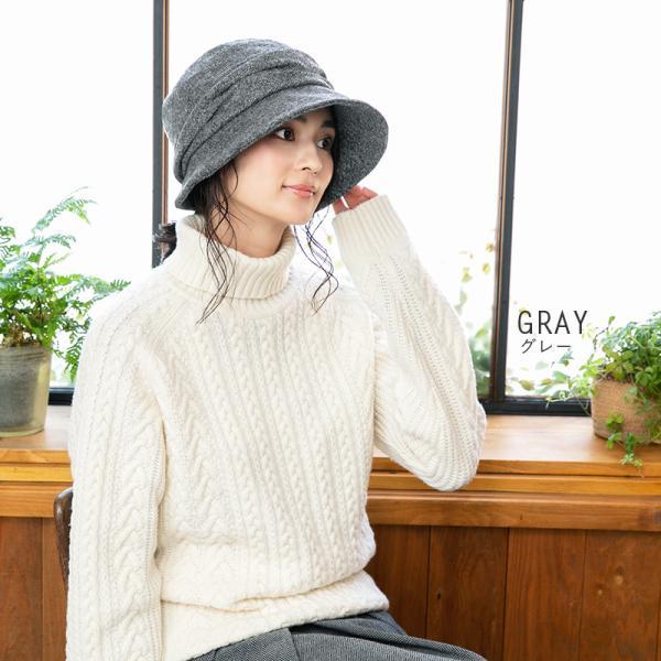 帽子 レディース 大きいサイズ キャスケット AWミラクルキャスダウンHAT  ハット 秋 冬 小顔効果 防寒対策に|queenhead|12