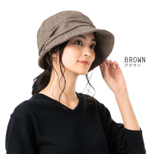 帽子 レディース 大きいサイズ キャスケット AWミラクルキャスダウンHAT  ハット 秋 冬 小顔効果 防寒対策に|queenhead|10